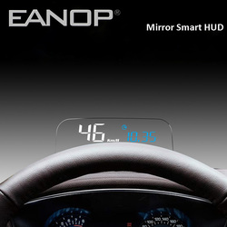 EANOP HUD Mirror Head-up display OBD2 GPS meter Car Eletronics Computer Speedometer with KMH KPM oil consumption Monitoring