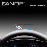 EANOP HUD Mirror Head up display OBD2 meter Car Eletronics Computer Speedometer with KMH KPM oil consumption Monitoring