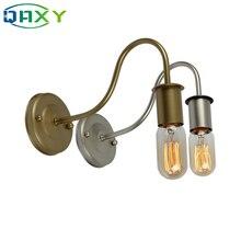 Lámpara de pared E27 Vintage dorada/plateada/negra/blanca luces simples de Metal para mesita de noche en dormitorio comedor pasillo estudio [B9339]