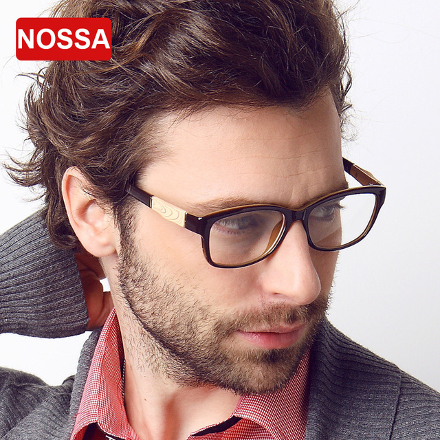 NOSSA Men's TR90 Super Light Glasses Frame Male Elegant Acetate Spectacle Frames Clear Lens Replaceable Fashion Optical Glasses