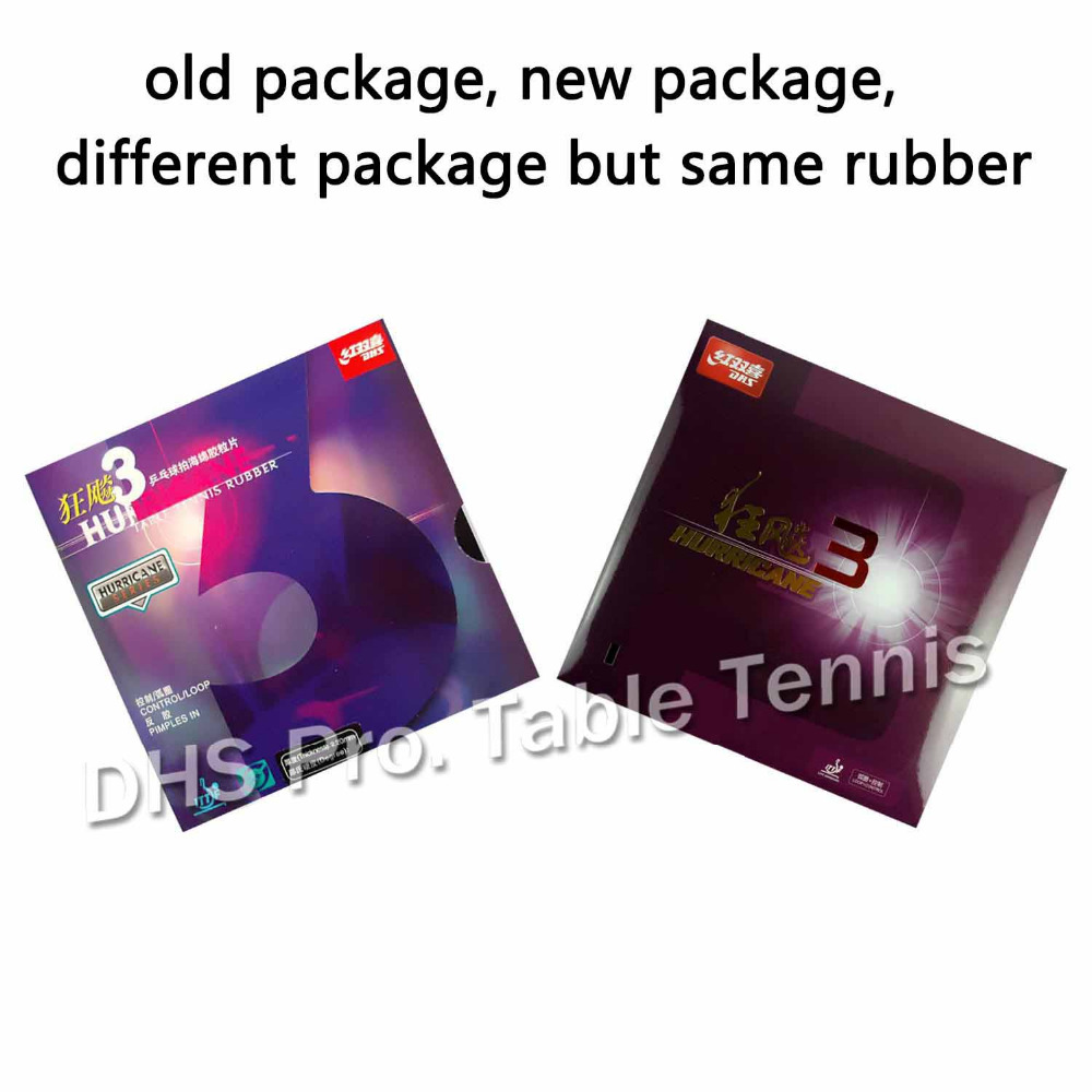 DHS Hurricane3 ( Hurricane 3, DHS h3 ) Pips In Table Tennis Rubber for ping pong table tennis racket rubber dhs original 3 star table tennis racket 3002 3006 with rubber pf4 1 pips in ping pong bat