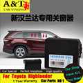 car styling For Toyota Highlander Window Lever 2015 kluger automatically Window Winding Handles Automatic Window Closer