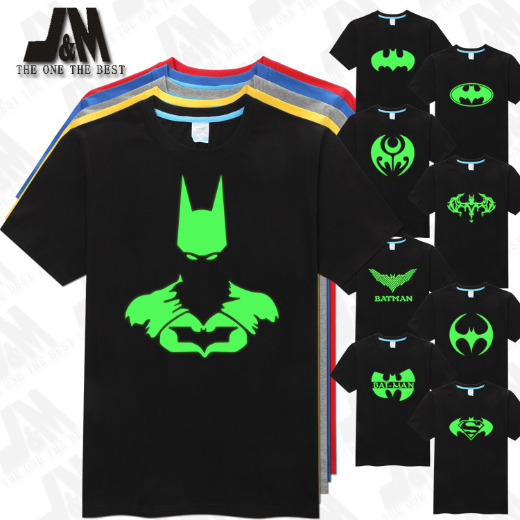 batman t shirt men 39 s t shirt cool men luminous tshirt in t. Black Bedroom Furniture Sets. Home Design Ideas