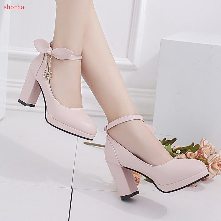 Classic fashion Women shoes High Heels Lady Sexy Glitter chain PU fashion Pumps Female Stiletto Wedding Bridal pink Silk Shoes basic pump