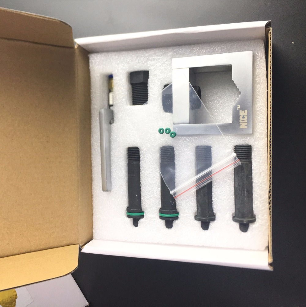 Factory Price Universal Diesel Common Rail Tool Fuel Injector Fix Adapter Fixture Clamping Repair Kits T0012