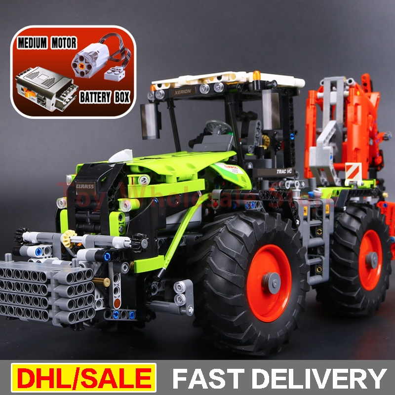 LEPIN 20009 1977Pcs Technic Technic Claas Xerion 5000 Trac Vc Model Building figures Blocks Brick lepins Toy Gift Clone 42054