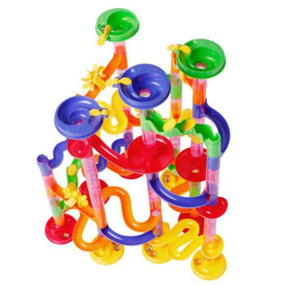 Pistes de marbre Piste Bloc 3D blocs de construction Ensemble jouets éducatifs pour Enfants 3 + ans Enfants Jouet Cadeau 105 pièces Brique