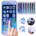 Ultra fino cristal fino claro flip case para apple iphone 6 6 s além de 5S 5 se suave gel tpu tampa transparente moda case capa