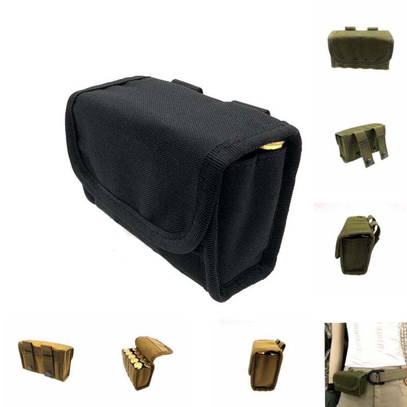 10 Round Tactical Shell Holder Ammo Hunting Shooting Military Molle Waist Bag Outdoor Essential Hunting Supplies 100% Guarantee