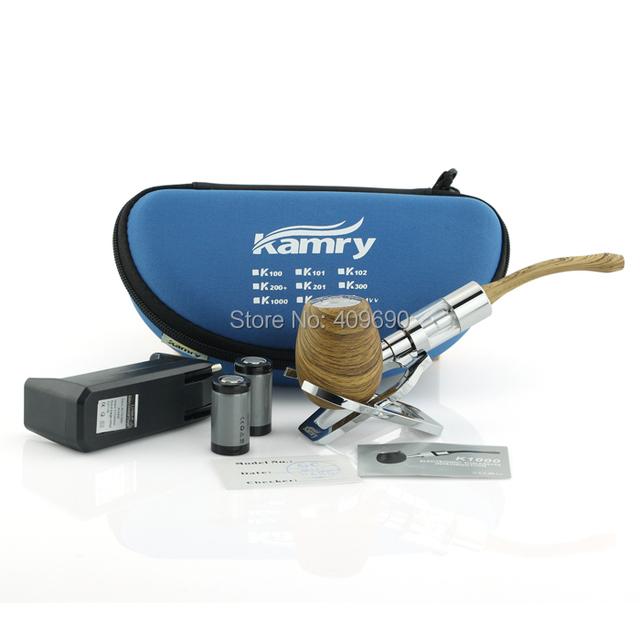 Original kit K1000 e TUBO Mod Mecânica com 3.0 ml atomizador TUBOS De Madeira E Cigarro com enorme Vapor Kamry Marca como madeira