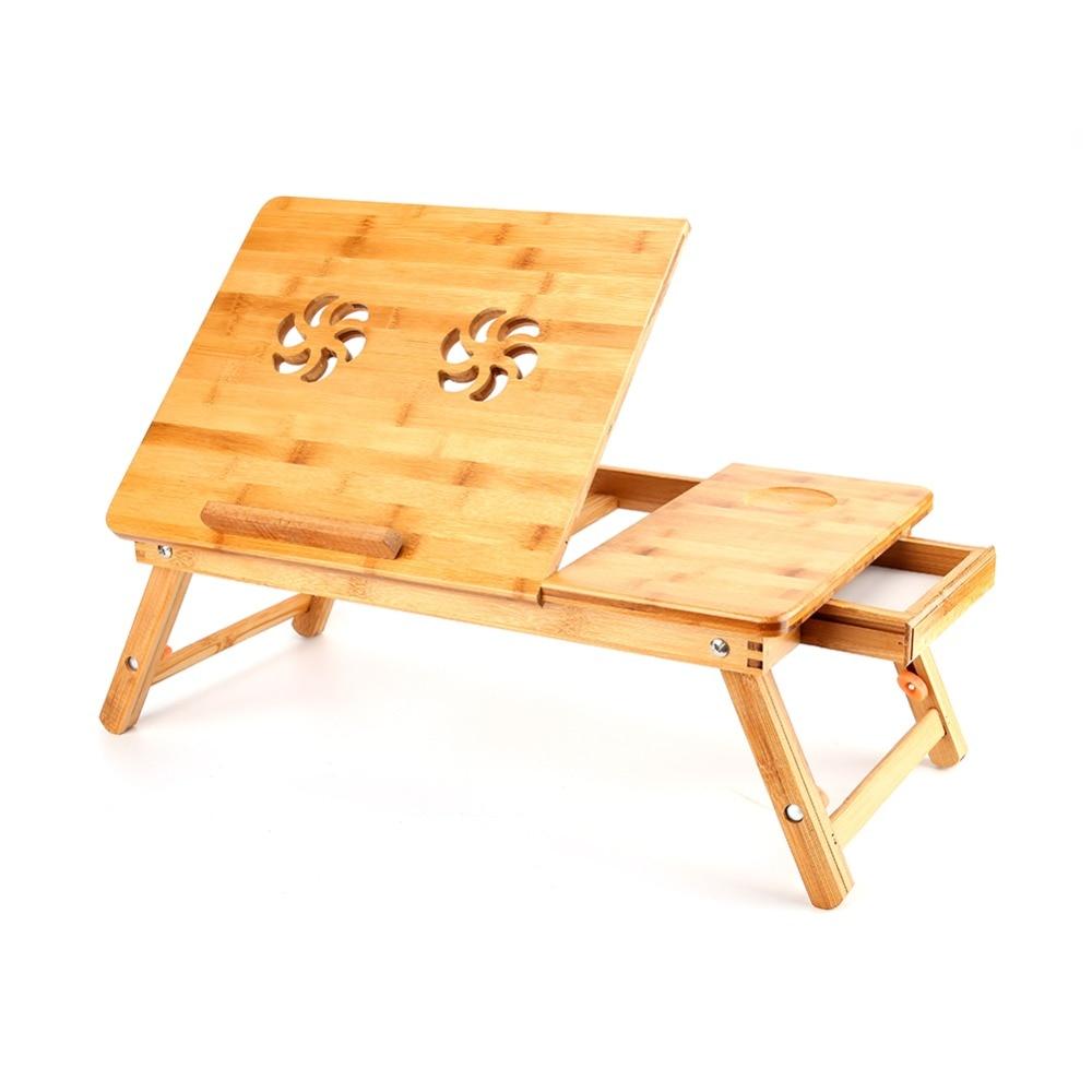 Online kopen wholesale bamboe computer tafel uit china bamboe ...
