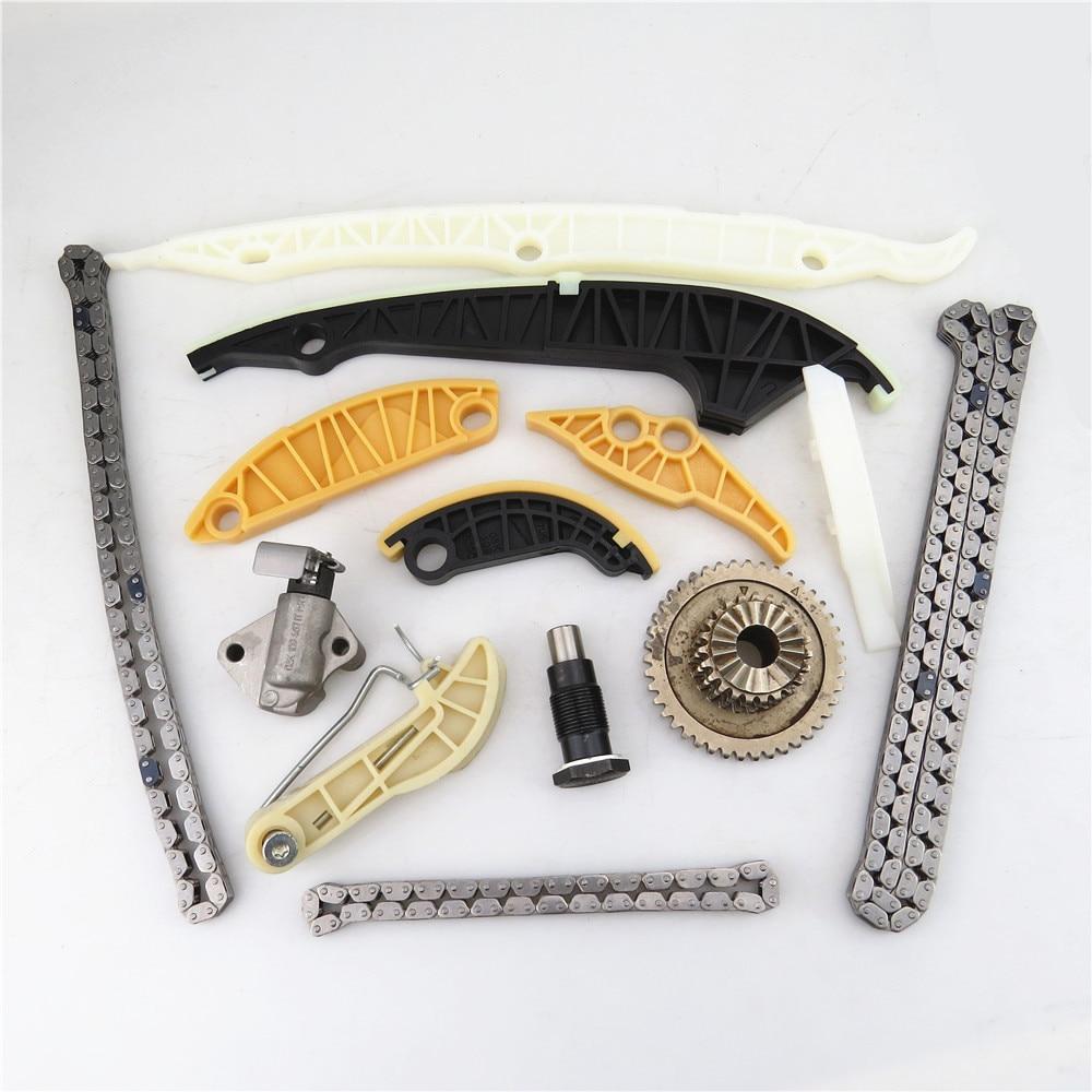 READXT 1.8T&2.0T Engine Camshaft Timing Chain Suit(13Pcs) For VW JETTA 6 MK6 GOLF GTI TIGUAN PASSAT B7 CC A3 A4 A5 A6 Q3 Q5 TT 6 set rear brake motor screw combination kit for vw passat cc b6 b7 tiguan sharan a4 a5 sportback a6 q3 q5 s5 coupe 32326315