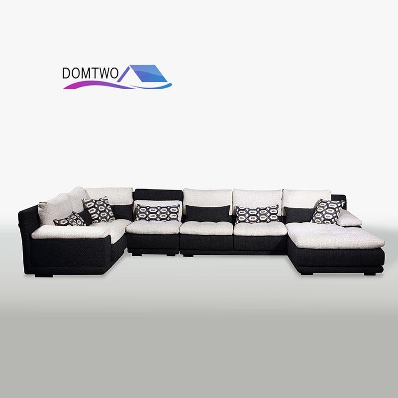 Living Room Furniture Corner House Type Cotton Down Customizable Sofa