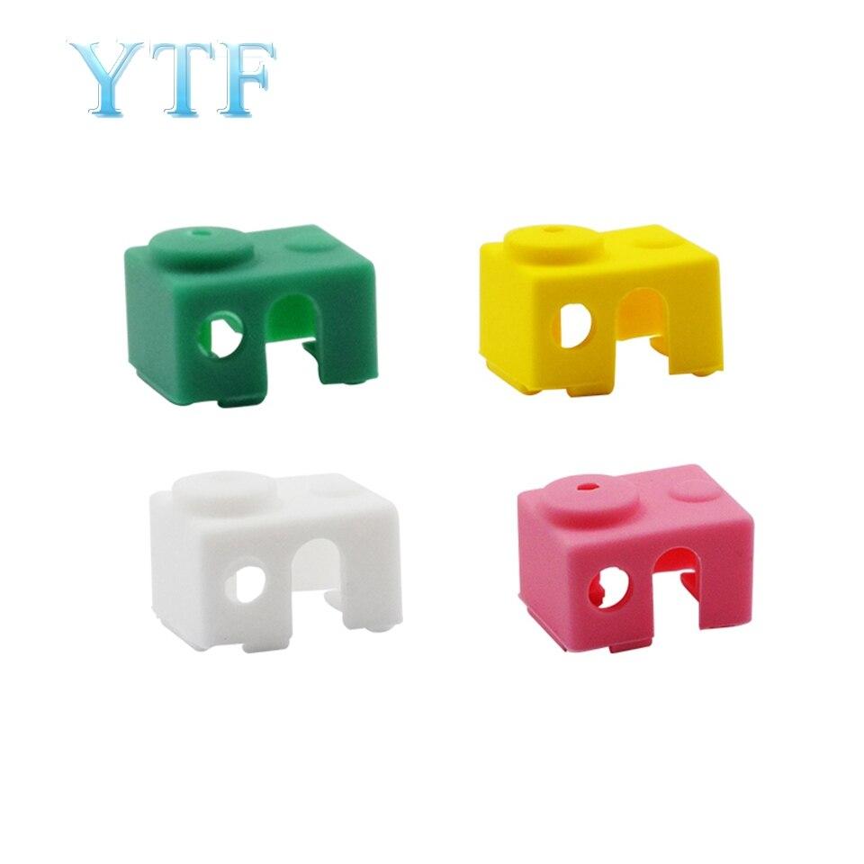 3D Printer PARTS  E3DV6 Aluminum Block Silicone Case High Temperature Protection Silicone Case