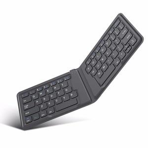 Image 1 - MoKo Wireless Bluetooth Keyboard,Ultra Thin Foldable Rechargeable Keyboard for iPhone,iPad 9.7, iPad pro, Fire HD 10,for All iOS