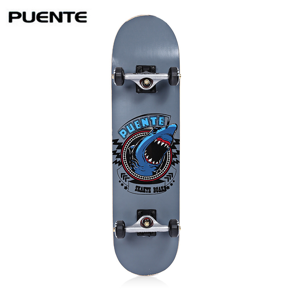 PUENTE 608 ABEC 9 Adult Four Wheel Double Snubby Maple Skateboard Longboard Skate Board For Entertainment