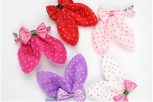 Free Shipping Fashion Pet Accessories Rabbit Ear Dog  Hair Accessories pet grooming 50pcs/lot