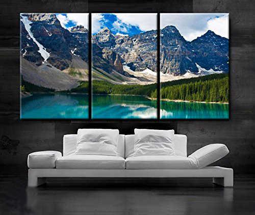 Art Wall Print Painting Mountains Nature Glacial Lake Bedroom Living Room Deco 4