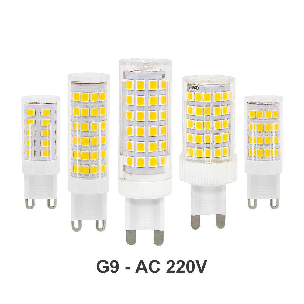 1pcs Ceramic G9 LED Lamp 220V 230V 3W 4W 5W 8W 10W 2835 SMD High Quality G9 Spotlight Chandelier Corn Bulb 33/51/75/76/86 leds