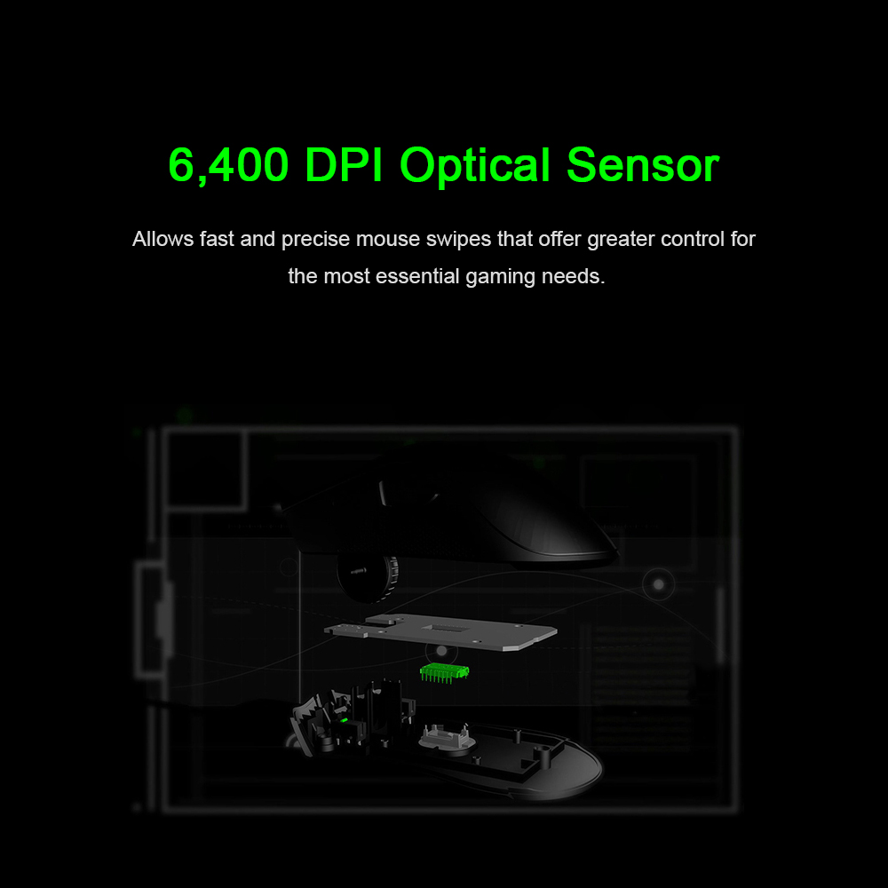 Original Razer DeathAdder Essential Wired Gaming Mouse Mice 6400DPI Optical Sensor 5 Independently Buttons For Laptop PC Gamer HTB1oquYX1L2gK0jSZFmq6A7iXXag Mice