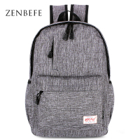 ZENBEFE Brand Linen Backpacks Leisure Laptop Backpack Durable College Student School Bag For Teenagers Rucksack Travel