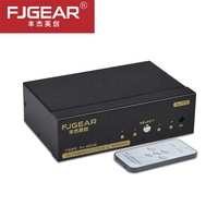 VGA Switch Splitter Switcher 2 In 1 Out Two Way VGA 500MHz 2560x1536 Switch box+IR Controller for PC HDTV projector LCD
