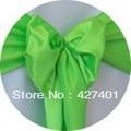 Горячие Продажи Светло-Зеленый Сатин Председатель Обложка Лента/Атласная Лента/Председатель Sash Для Свадебное Event & Украшение Партии