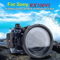 Seafrogs 60m/195ft Diving Camera Waterproof Housing for Sony RX100 VI Underwater Camera Case for Sony RX100 VI Mark 6
