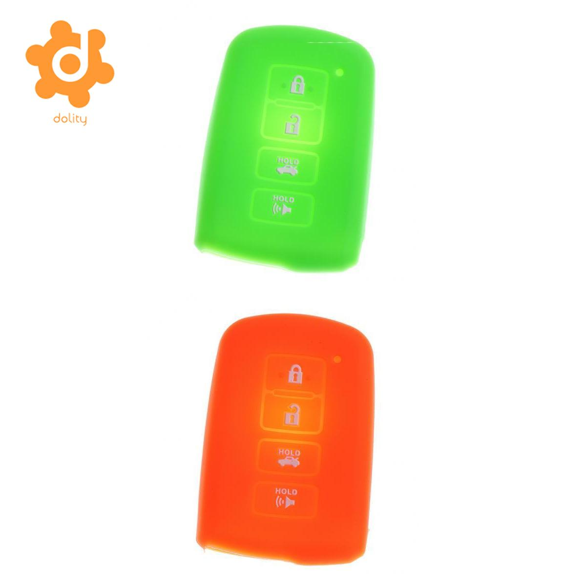 Orange+Green Silicone Car Key Shell Fob Case Cover for Toyota Avalon RAV-4 ...