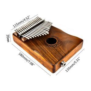 Image 4 - Muspor 17 tuşları EQ kalimba akasya başparmak piyano bağlantı hoparlör elektrikli pikap çantası kablo 17 tuşları Calimba Mini piyano kamfer