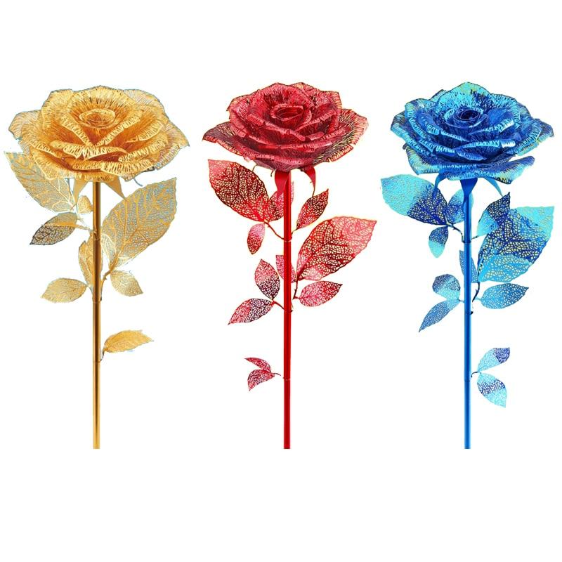 Pour Amant Cadeau Piececool 3D Métal Nano Puzzle Romantique Rose P099 Diy 3D Métal Assembler Modèle Kits Laser Cut Jigsaw jouets