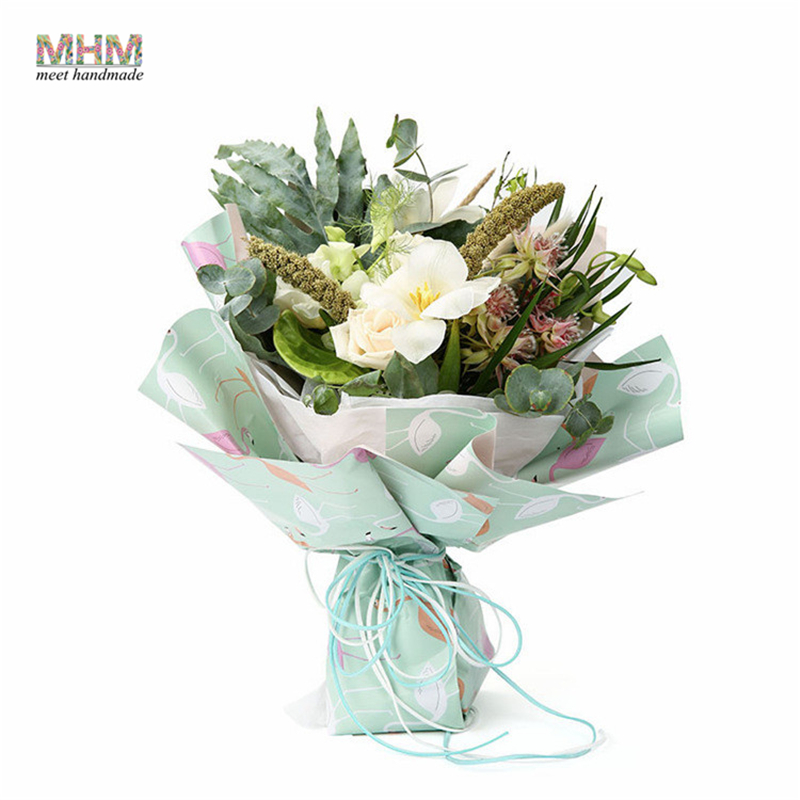 MHM 50*70cm Flamingo Oil Painting Paper Bouquets of Flowers Gift ...