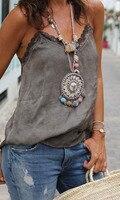 Горячая Бохо воротник серебряное ожерелье ювелирные изделия для женщин модный винтажный этнический стиль, бохо бусина шеи