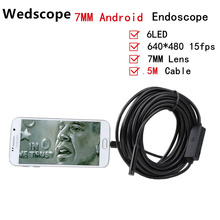 USB Endoscope Android Mobile 7MM Lens 5M Snake Camera Waterproof Inspection Borescope for Laptop with OTG /UVC