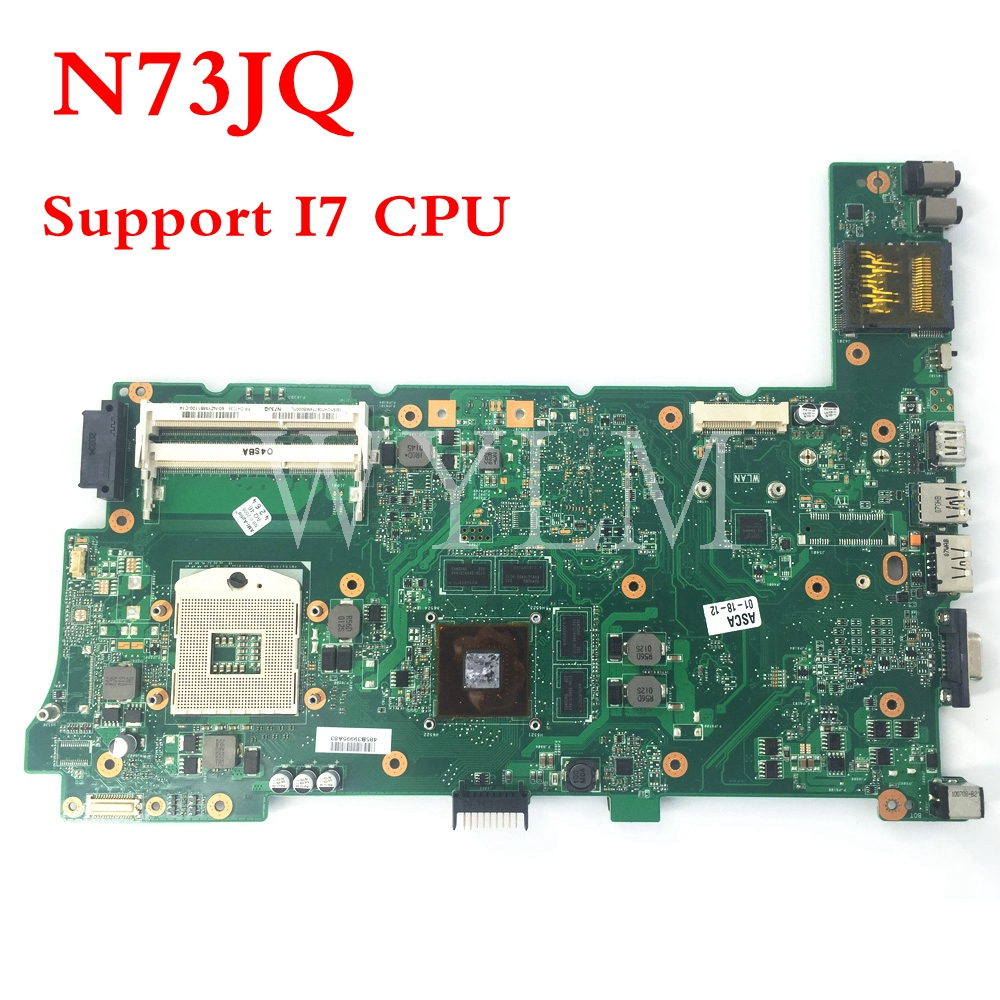 N73JQ Support I7CPU HM55 mainboard REV 2.1 For ASUS N73JQ N73J Laptop Motherboard 100% Tested free shipping все цены