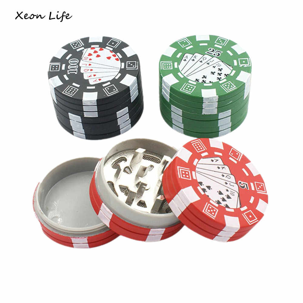 42*26mm 3 Layers  Chip Style Herb Herbal Tobacco Grinder Weed Grinders Plastic Tobacco Crusher