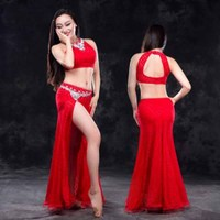 New Tops Skirt Belly Dancing Costumes Suits Sexy Stage Performance Clothing Outfits Nice Dancing Collar Costumes