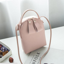 Fashion Lady Shoulder Bag PU Leather Hot Sales Color Female Portable Mini Handbag New Crossbody Bags Mobile Phone