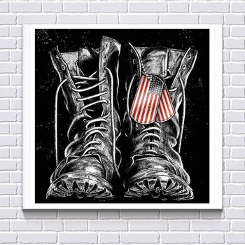 5d Diy Elmas Boyama Askeri Ayakkabı Mozaik Desen çapraz Dikiş Kare