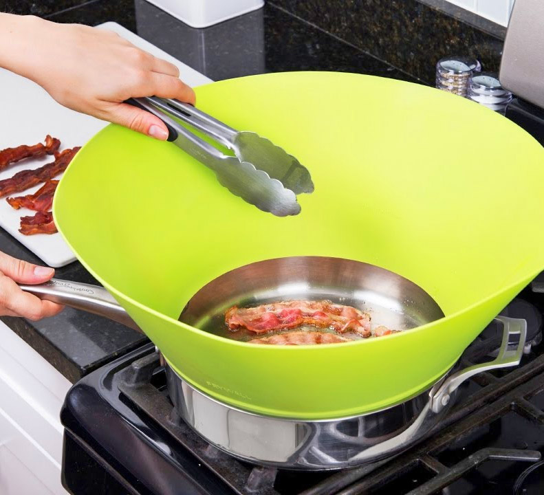 Kitchen Splatter Screen Shield Wall Guard Cooking Oil Splash Proof Protection Cover for 10 12 inch Frying Pan Copper Pan Tool