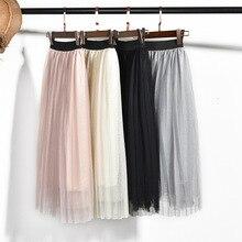 Girls Skirt Chiffon Mesh Pleated Skirt Summer Pink Princess Skirt for Girl Teenage Girls Clothes Skirts for Girls Children 12 Y