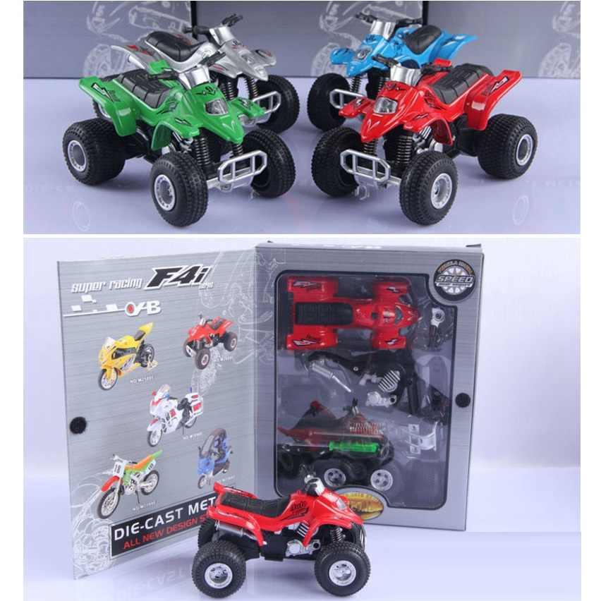 Daftar Baru Alloy Self Perakitan Pantai Sepeda Motor, 1:18 Off-Road Kendaraan Model/DIY Logam Model Mobil Mainan Edukasi Anak