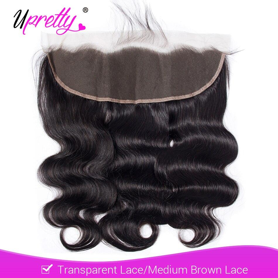 Волосы Upretty бразильские, волнистые, HD, прозрачные, на сетке, Фронтальная застежка, 13x4, человеческие волосы без повреждений, на сетке, застежка...