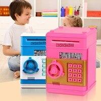 Kreative Kinder Geburtstagsgeschenk Spielzeug Simulation ATM Mini Sparschwein Sparschwein Sicher Passwort hucha perro Neue