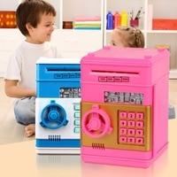 Creative Kids Birthday Gift Toys Simulation ATM Mini Piggy Bank Piggy Bank Safe Password Hucha Perro