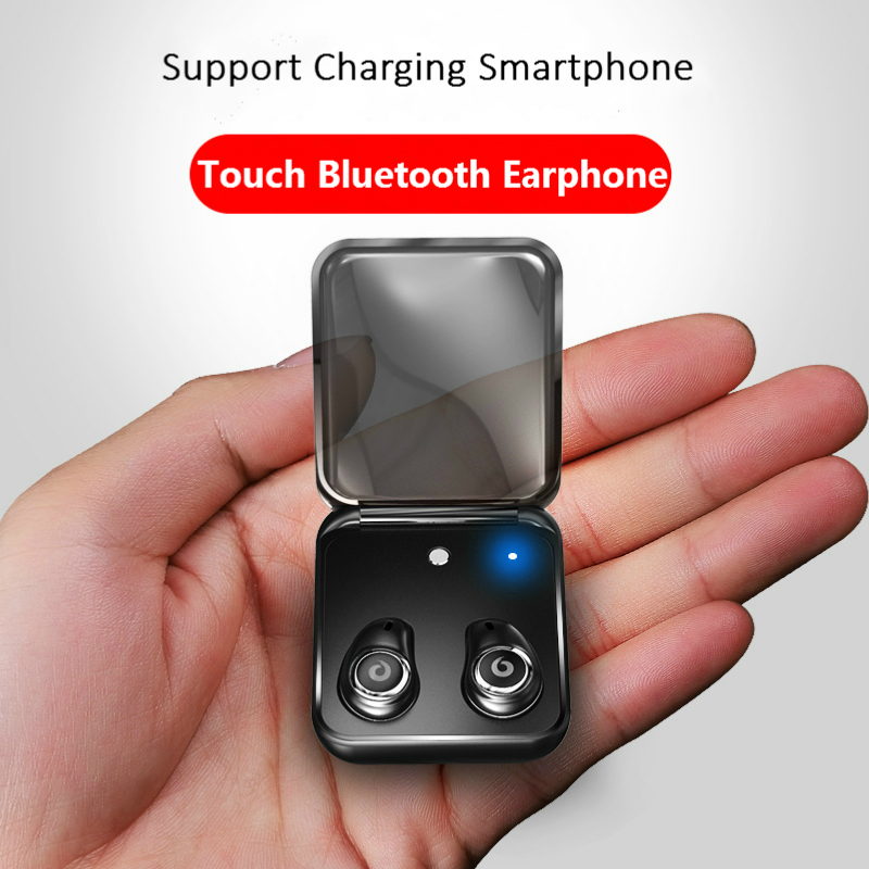Mini Bluetooth HIFI Stereo Sports Earphones Noise Reduction Waterproof TWS Twins Wireless Handfree Calls Headset With Charge Box mini true bluetooth earphones twins v 4 1 stereo earbud wireless headset sport invisible waterproof headphone with charger box