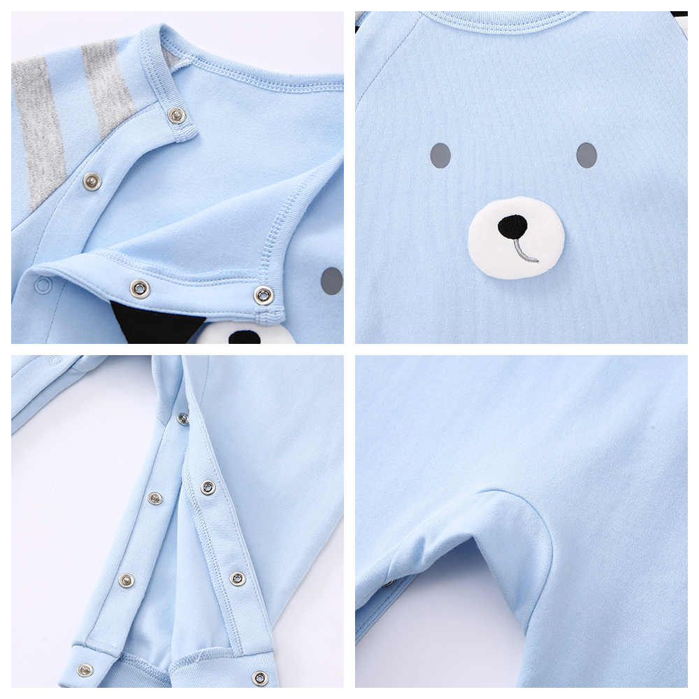 Balabala 2018 nouveaux enfants pyjamas bébé barboteuses coton nouveau-né bébé vêtements à manches longues sous-vêtements costume garçons filles automne saut