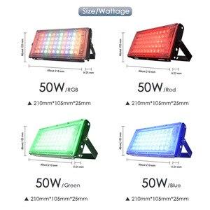 Image 5 - Floodlight 10W 50W LED Flood Light Lighting Outdoor Street Lamp Wall Reflector Waterproof IP65 Spotlight AC 220V 240V