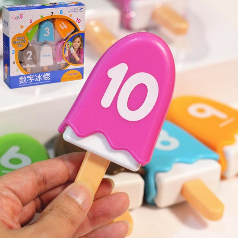 Digital Popsicle Mathematics Enlightenment Early Childhood Education Parent-child Interactive Educational Toys For Children