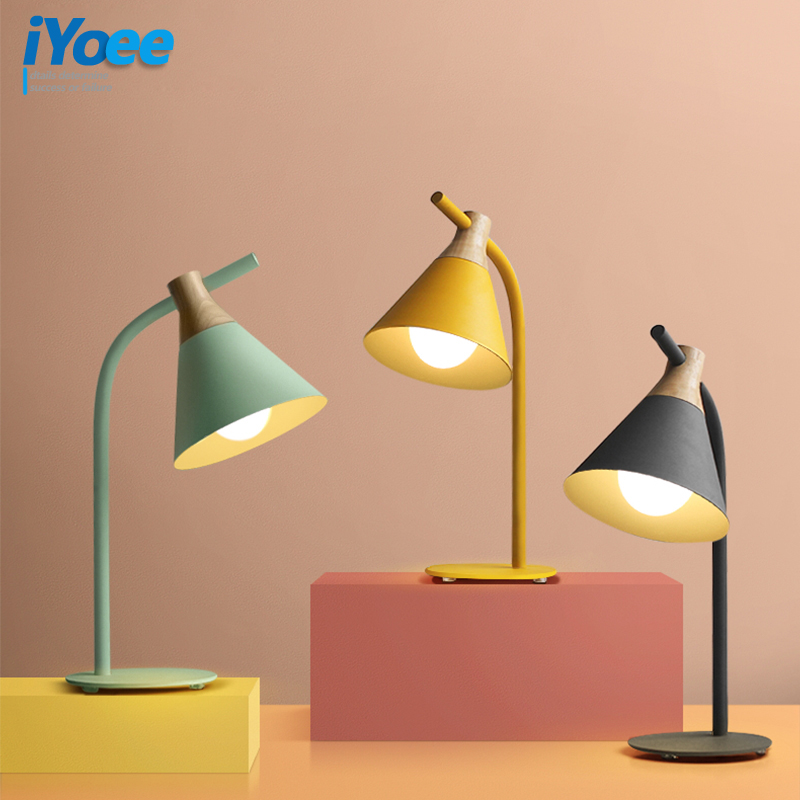 Macaron Creative Table Lamps Bedroom Beside Lamp Stduy Reading Lighting Living Room Hotel Room Decoration Lamp E27 AC90-260V romantic rose decoration red blue pink table lamp creative holiday gift living room bedroom lighting desk lamps za927525